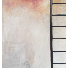 Anja Langer, Airtime, 2016, wax on canvas, 220x 170cm