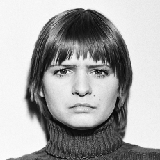 Anna Kutera<br />from the cycle Stimulated Situations, A monologue<br />1976<br />black and white photograph