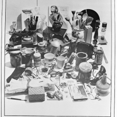 Anna Kutera<br />The Inventory<br />1980<br />black and white board<br />140x70cm
