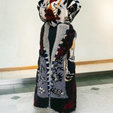 Anna Perach<br />Baba Yaga<br />2018<br />tufted yarn artificial hair<br />90x170cm