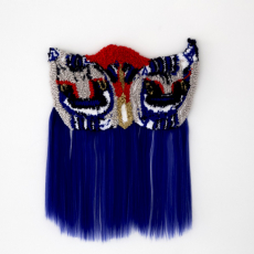 Anna Perach<br />Pafti Belt<br />2018<br />buckles tufted yarn and artificial hair<br />68x51cm