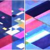 """Arlene Slavin <em>Yukan Diptych</em>, 1974 Acrylic on canvas 240 x 360 cm (96"""" x 140"""")"""