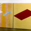 """Arlene Slavin <em>Crimson Focus</em>, 1974/75 Acrylic on canvas 180 x 425 cm (72"""" x 165"""")"""