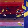 "Arlene Slavin <em>Night Flight</em>, 1976 watercolour 90 x 120 cm (36"" x 48"")"