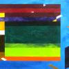 """Arlene Slavin <em>Blue Skies</em>, 1976 watercolour 150 x 180 cm (48"""" x 72"""")"""