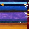 "Arlene Slavin <em>Kosen II</em>, 1976 watercolour 90 x 120 cm (36"" x 48"")"
