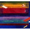 "Arlene Slavin <em>Shining Blue Water</em>, 1976  watercolour 90 x 120 cm (36"" x 48"")"