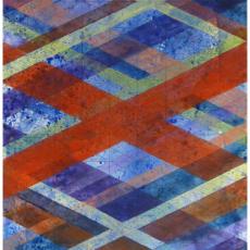 "Arlene Slavin <em>Intersections (G22</em>), 2019 Acrylic on canvas 152 x 92 cm (60"" x 36"")"
