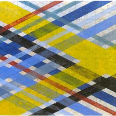 "Arlene Slavin <em>Intersections (G24)</em>, 2019 Acrylic on canvas 92 x 152 cm (36"" x 60"")"