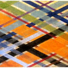 "Arlene Slavin <em>Intersections (G25)</em>, 2019 Acrylic on canvas 92 x 122 cm (36"" x 48"")"