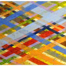 "Arlene Slavin <em>Intersections (G26)</em>, 2019 Acrylic on canvas 92 x 122 cm (36"" x 48"")"