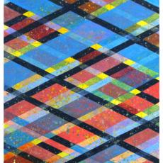 "Arlene Slavin <em>Intersections, (G8)</em> 2019 Acrylic on canvas 92 x 60 cm (36"" x 24"")"