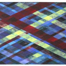 "Arlene Slavin <em>Intersections (G9)</em>, 2019 Acrylic on canvas 60 x 76 cm (24"" x 30"")"