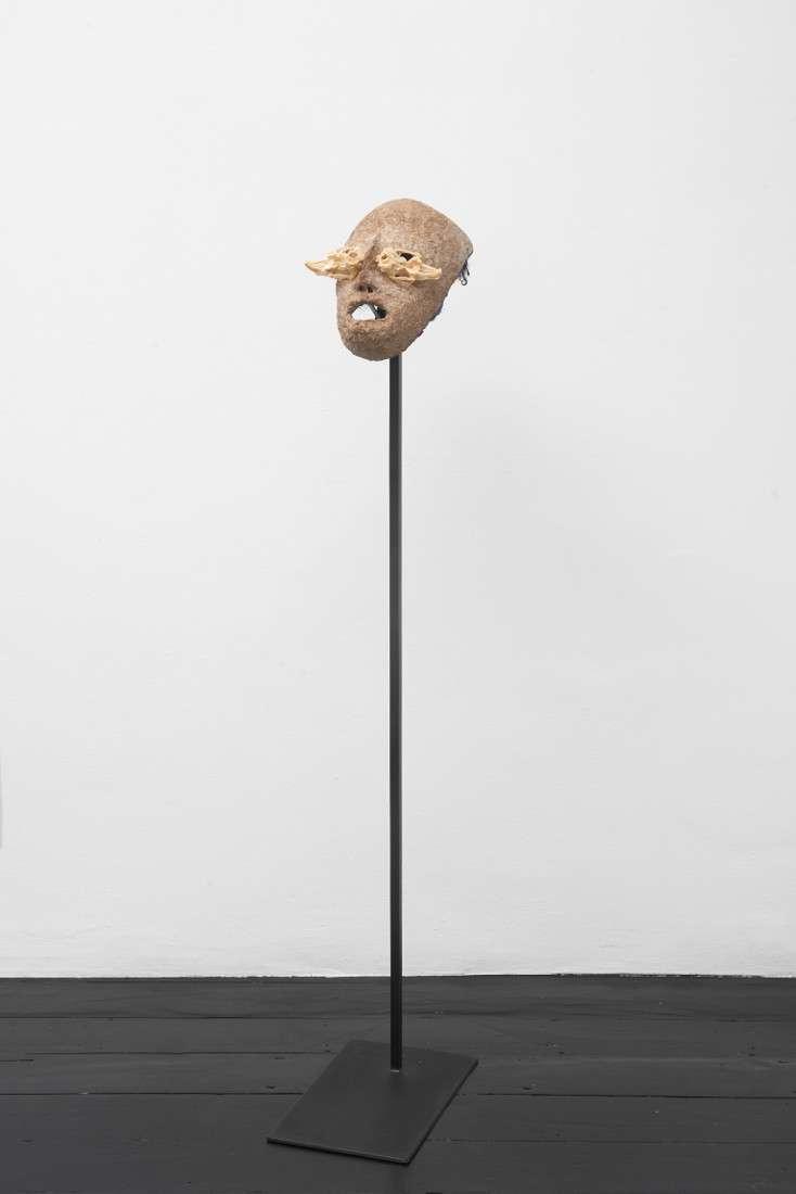Joanna Rajkowska, Mask with Hare Skull, 2019, 25.5x16x14 cm (approx.) Photo by Andy Keate
