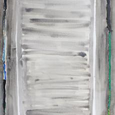 Bożenna Biskupska, Big Cage, 2008-2014, (BBLC01),  oil on canvas 185 x 120 cm