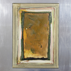 Bożenna Biskupska, Cage, 2000-2006, (BBSC09),  oil on canvas 46 x 30 cm