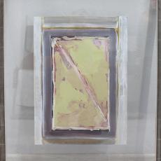 Bożenna Biskupska, Cage, 2008-2014, (BBPC20),  oil on paper 74,5 x 60 cm