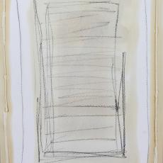 Bożenna Biskupska, Cage (1), 2008-2014, BBPC21),  oil on paper 35 x 30 cm