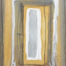 Bożenna Biskupska, Cage, 2005-2011, (BBPC23),  oil on paper 40 x 30 cm
