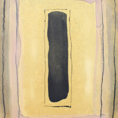 Bożenna Biskupska, Cage, 2005-2011, (BBPC25),  oil on paper 40 x 30 cm