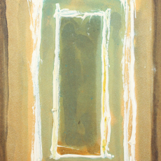 Bożenna Biskupska, Cage, 2005-2011, (BBPC26),  oil on paper 40 x 30 cm