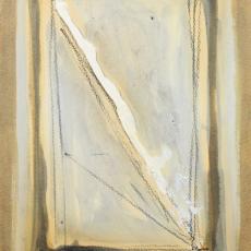 Bożenna Biskupska, Cage, 2005-2011, (BBPC28),  oil on paper 40 x 30 cm