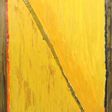 Bożenna Biskupska, Big Cage, 2006-2012, (BBLC04),  oil on canvas 185 x 120 cm