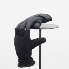 Małgorzata Markiewicz<br />Couples/They<br />2016<br />found gloves, textile, yarn