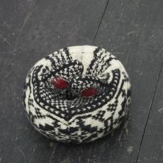 Małgorzata Markiewicz<br />Couples/They 9<br />2016<br />found gloves, textile, yarn