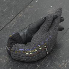 Małgorzata Markiewicz<br />Couples/They 11<br />2016<br />found gloves, textile, yarn