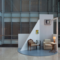 David Ben White, Temples to the Domestic, installation view, Clifford Chance, Canary Wharf, 2012
