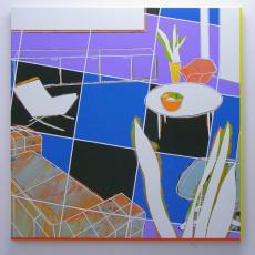 David Ben White, Fabrication of Pleasure  123cm x 123cm, mixed media, 2013