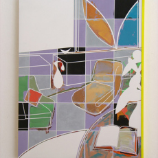 David Ben White, Fabrication of Pleasure  81cm x 61cm, mixed media, 2013