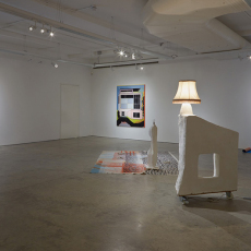 David Ben White, Let's sit down and talk about it [collaboration with Fay Nicholson], installation view, Gerald Moore gallery, 2014