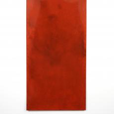 David Raffini + Florian Pugnaire, Untitled, 2016. Steel, car varnish, graphite, 200 x 100 cm