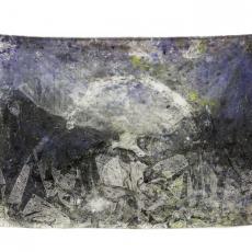 David Raffini, Capharnaüm, le bon pasteur, 2012, painting on canvas, 220 x 150 cm