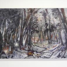 David Raffini, Czarne Làs, 2016, paints on plywood, 161 x 100 cm