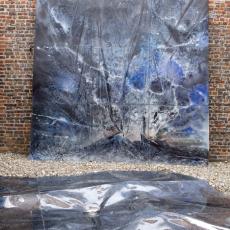 David Raffini, Land Escape 3, 2014, paint on Bakelised Plywood, 375 x 375 cm