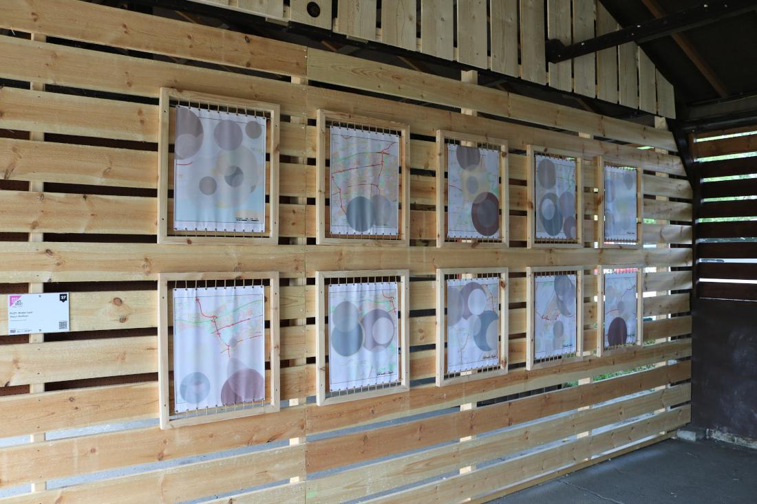 Shaun  C. Badham<br /> Geographical Maps, installation view <br />Estuary Festival 2021
