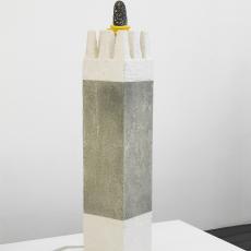 Evy Jokhova, 'Totem VIII', 2018, Wood, acrylic resin, sand, stone effect, climbing rope, jesmonite, cardboard, stone, 122 x 23 x 24 cm,  photo by Andy Keate