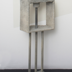 Evy Jokhova, 'Totem IX', 2018, Wood, dowel, acrylic resin, sand, stone effect, plaster, brick, 117 x 44 x 20 cm,  photo by Andy Keate
