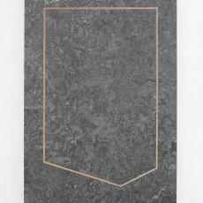 Evy Jokhova, Template for Venetian Marble II, 2017, Oil on linoleum, on panel, 27.5 x 19 cm