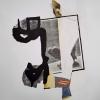 Filip Berendt, Monomyth II A, 2018, Archival pigment print on dibond, acrylic paint, MDF, 70 x 50 cm