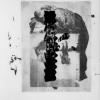 Filip Berendt, Monomyth II C, 2018, Archival pigment print on dibond, acrylic paint, MDF, 70 x 50 cm