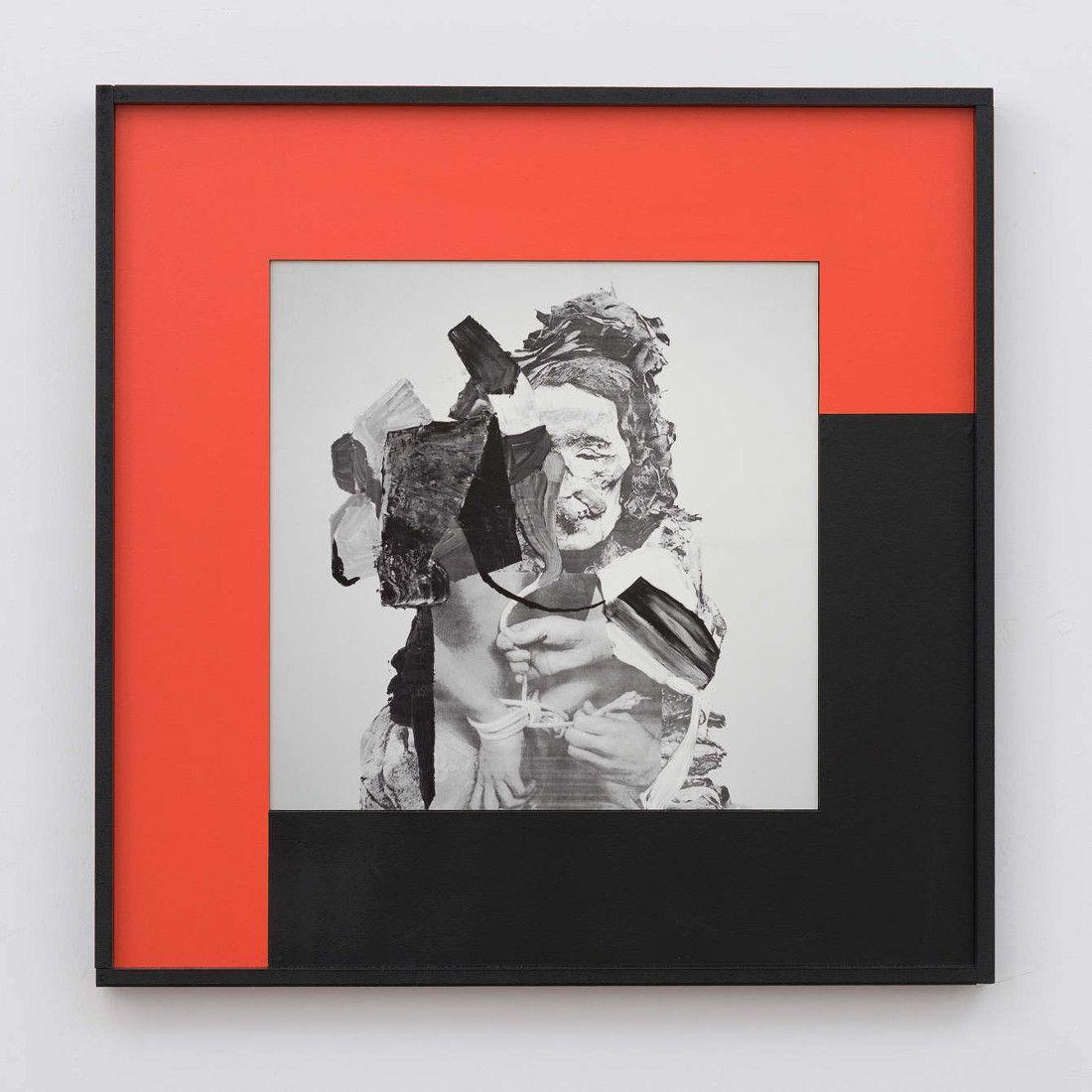 Filip Berendt<br />Monomyth I A<br />2016<br />archival pigment print on dibond acrylic  paint, MDF<br />50x50 cm