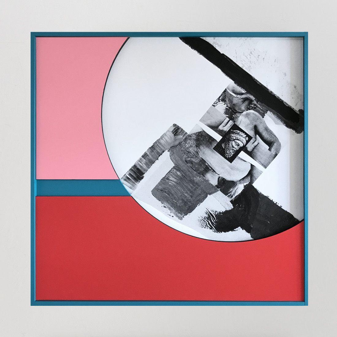 Filip Berendt<br />Monomyth II G<br />2018<br />archival pigment print on dibond acrylic paint, MDF<br />72.5x56.5cm