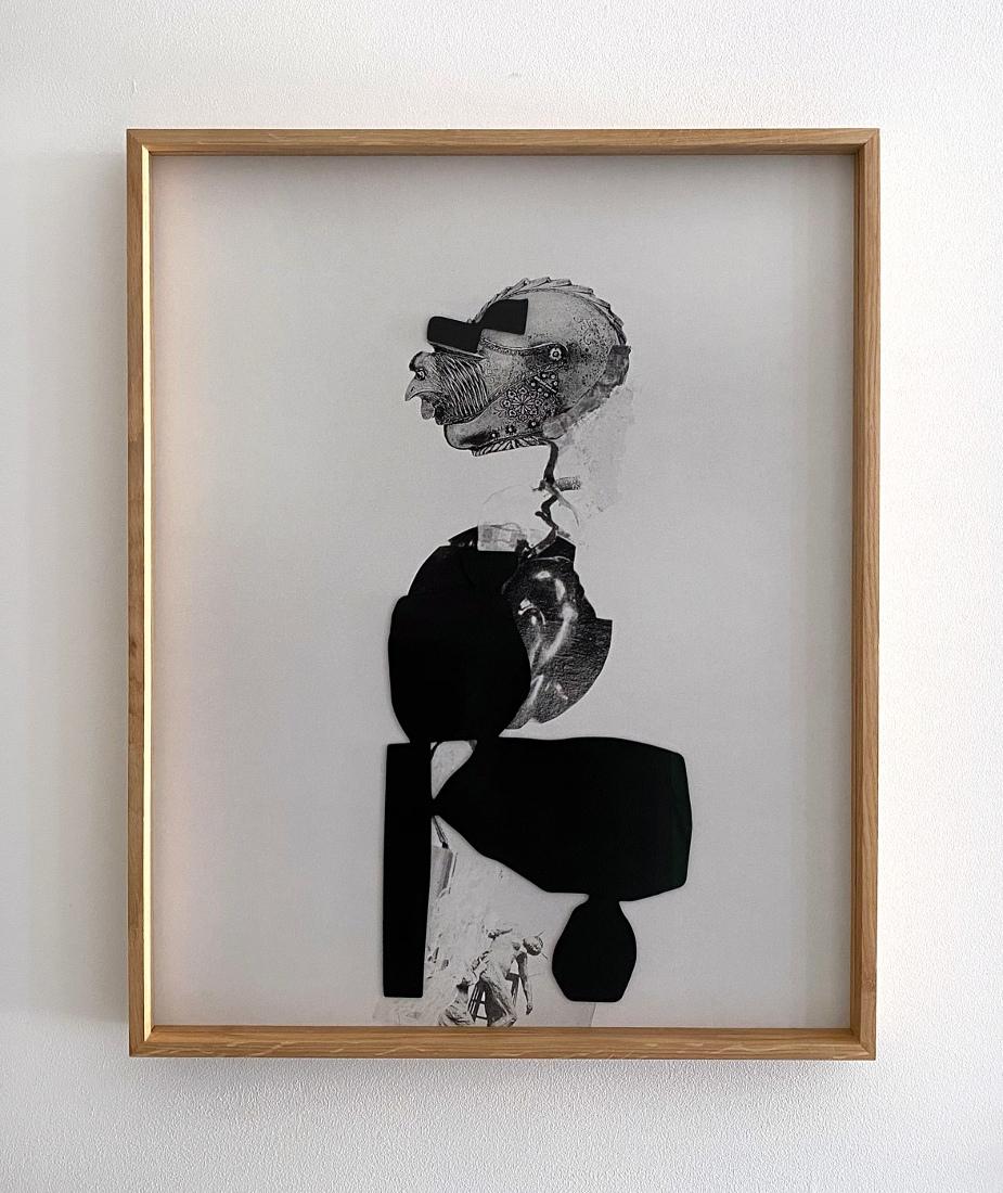 Filip Berendt<br />Monomyth IV C<br />2020<br />Archival pigment print on dibond, acrylic paint, MDF<br />55x45cm