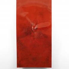 Florian Pugnaire + David Raffini, Untitled, 2016. Steel, car varnish, graphite, 195 x 10 x 100 cm