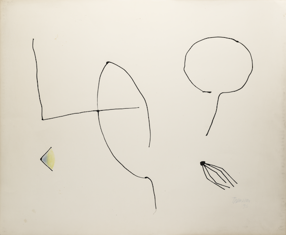 Drawing (breast), 1973, ink, coloured crayons on paper