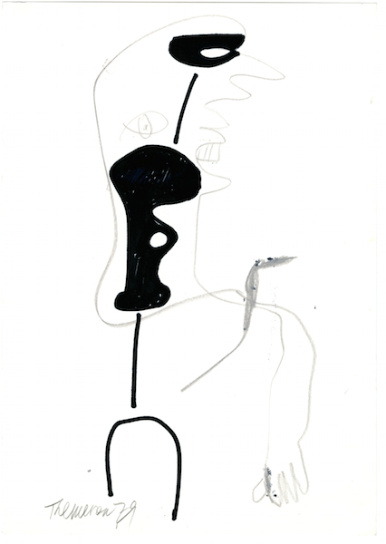 Hieroglyph IV, 1979, felt pen and conté crayon on paper, 29.5 x 21 cm